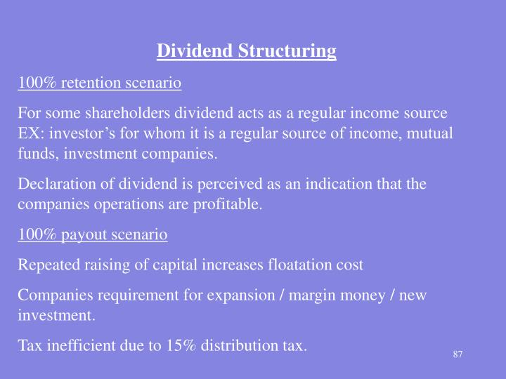 Dividend Structuring