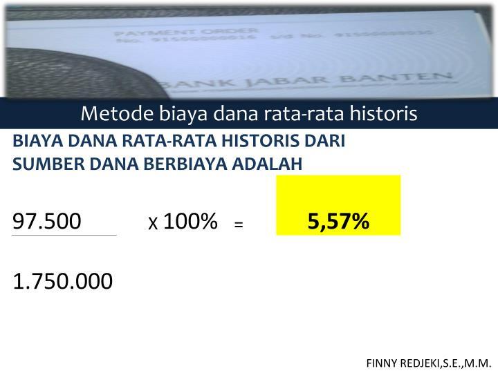 Metode biaya dana rata-rata historis
