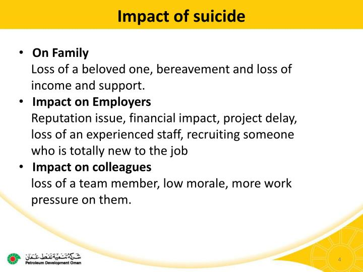 Impact of suicide