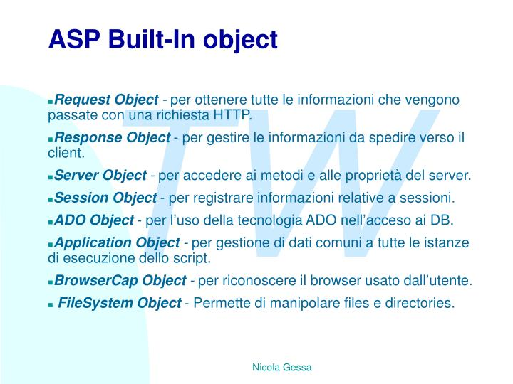 ASP Built-In object
