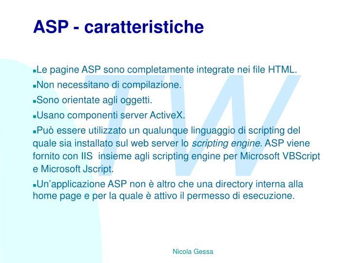 ASP - caratteristiche