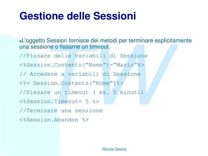 Gestione delle Sessioni