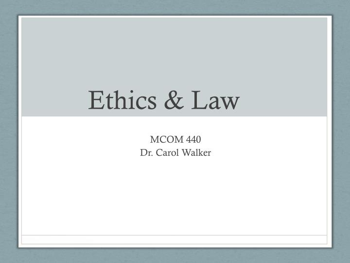 Ethics law