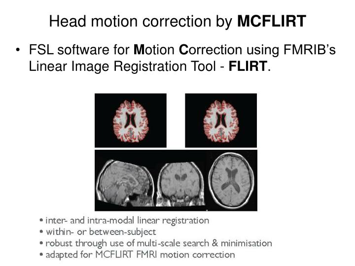 Head motion correction by