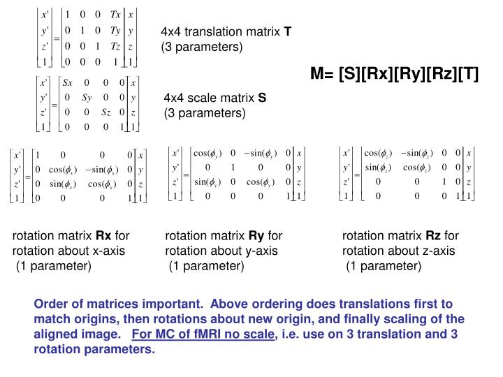 4x4 translation matrix
