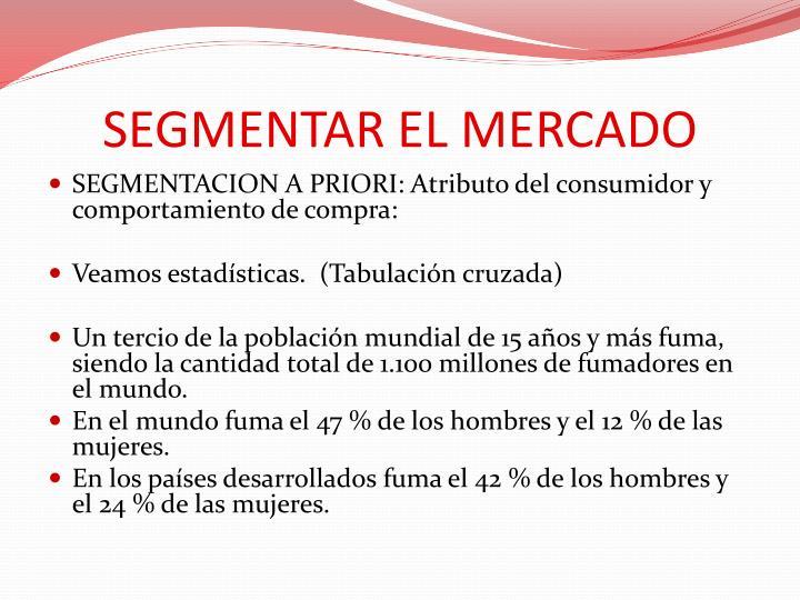 SEGMENTAR EL MERCADO