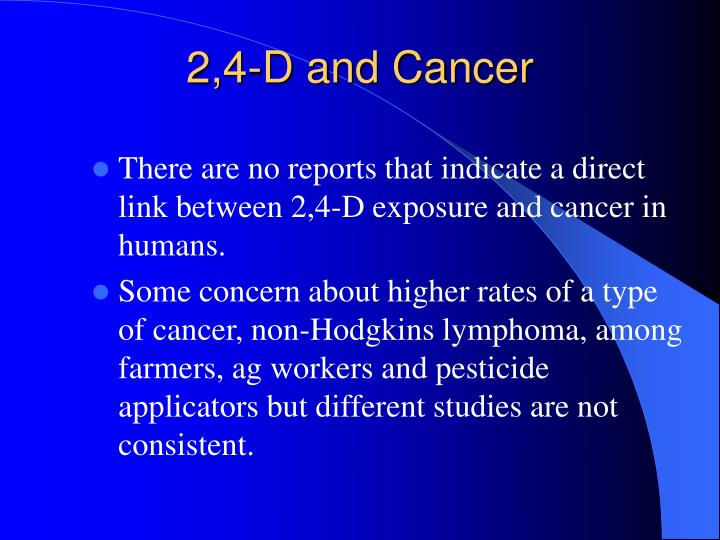 2,4-D and Cancer