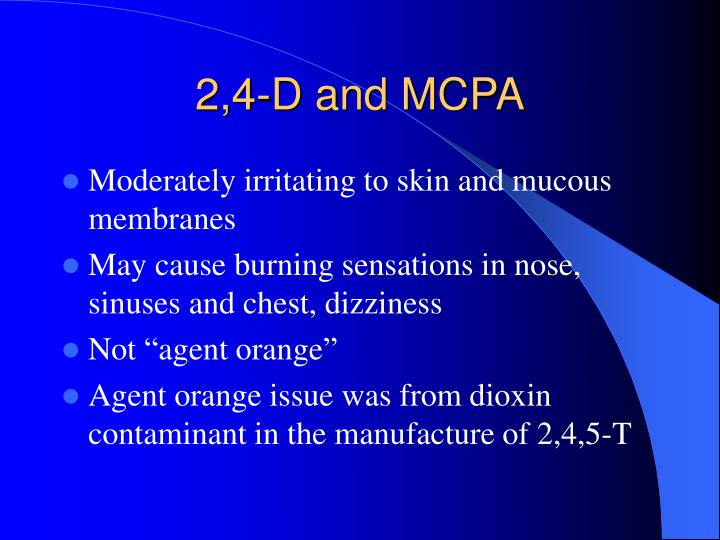 2,4-D and MCPA