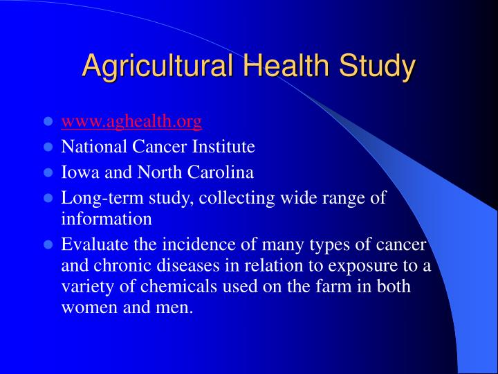 Agricultural Health Study