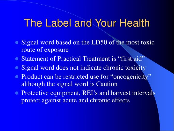 The Label and Your Health