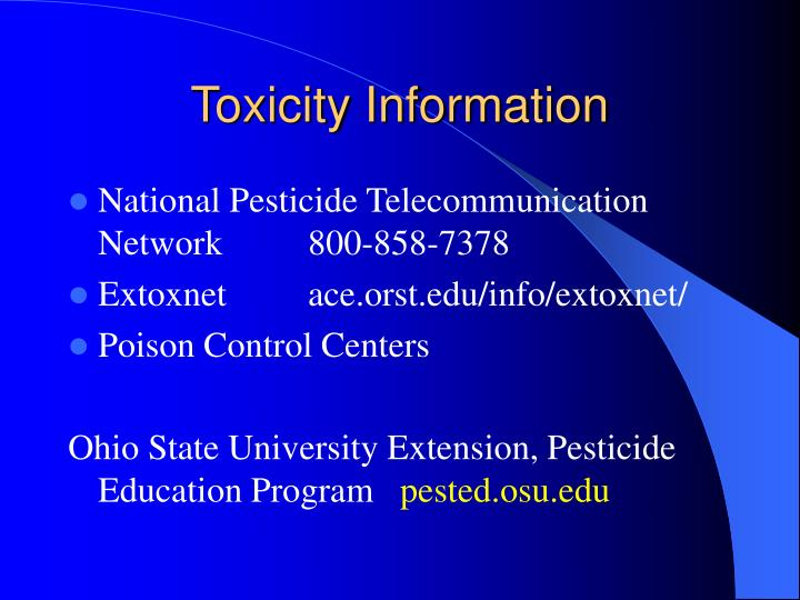 Toxicity Information