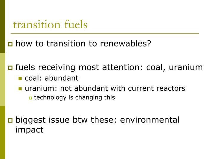 transition fuels