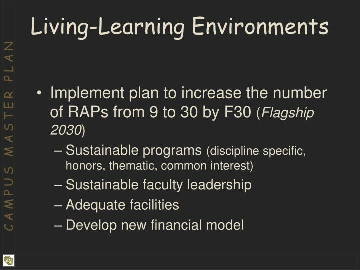 Living-Learning Environments