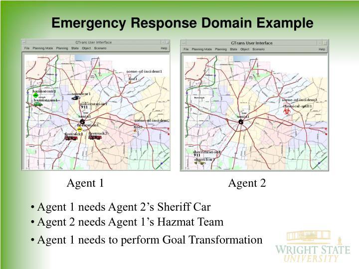 Emergency Response Domain Example