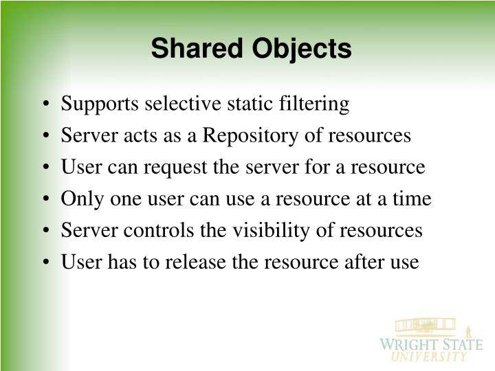 Shared Objects