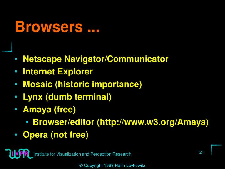 Browsers ...