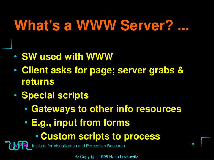 What's a WWW Server? ...