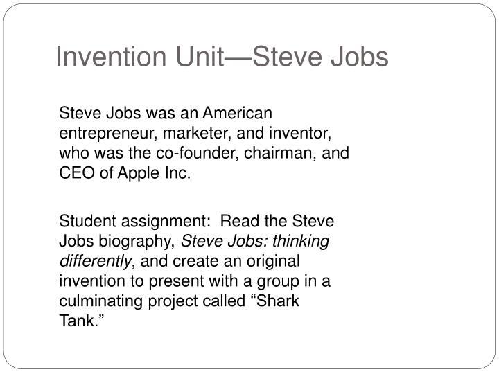 Invention Unit—Steve Jobs