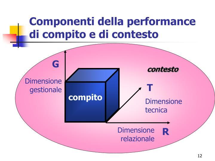 Componenti della performance di compito e di contesto