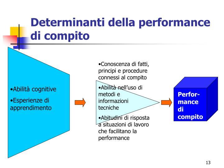 Determinanti della performance di compito