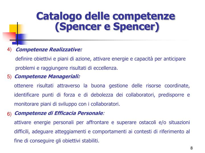 Catalogo delle competenze