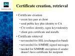certificate creation retrieval