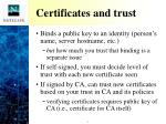certificates and trust