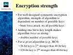 encryption strength