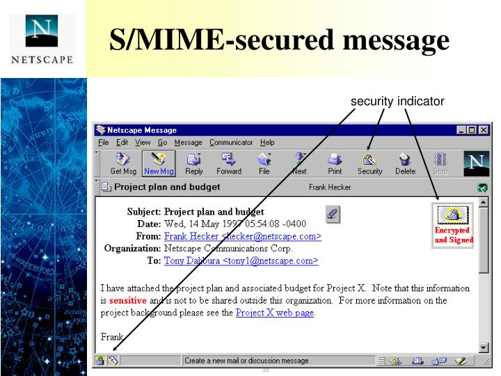 S/MIME-secured message
