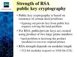 strength of rsa public key cryptography