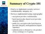 summary of crypto 101