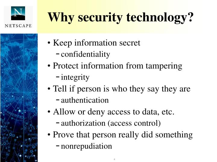 Why security technology?
