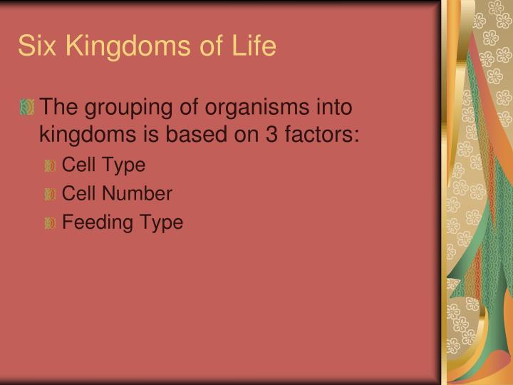 Six Kingdoms of Life