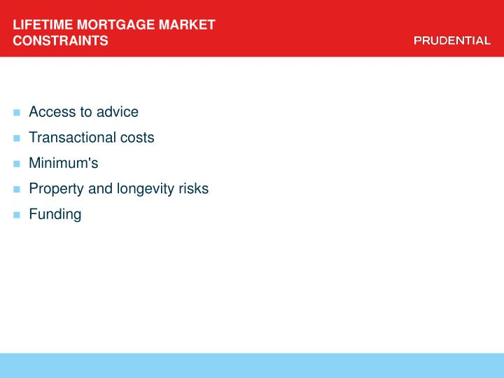 LIFETIME MORTGAGE MARKET