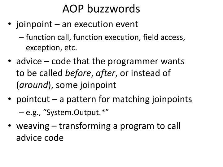AOP buzzwords