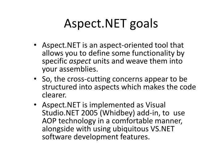 Aspect.NET goals