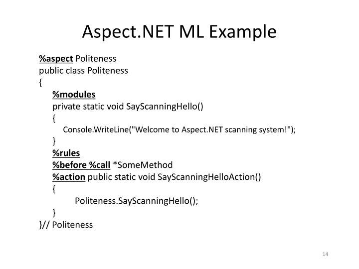 Aspect.NET ML Example