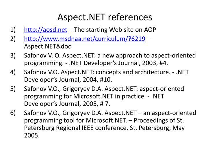 Aspect.NET references