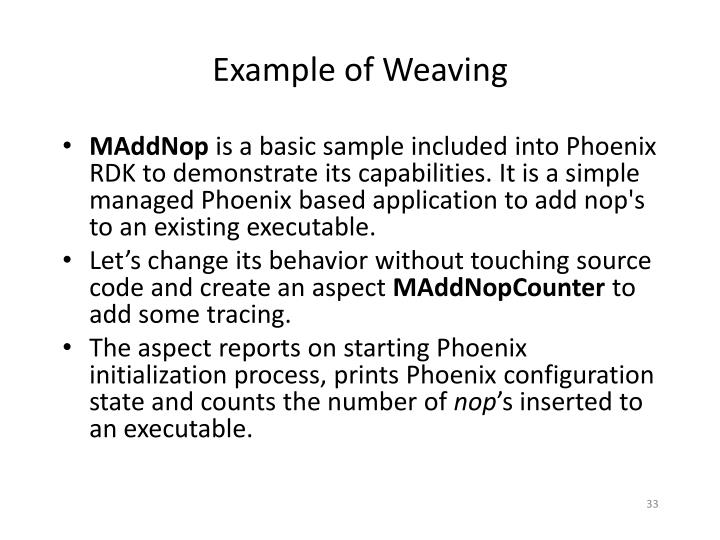 Example of Weaving
