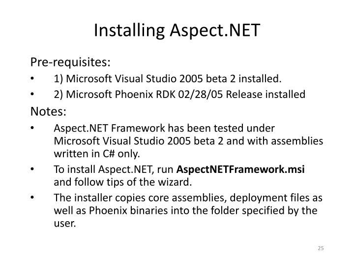 Installing Aspect.NET