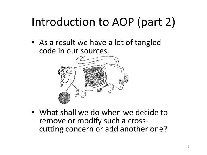 Introduction to AOP (part 2)