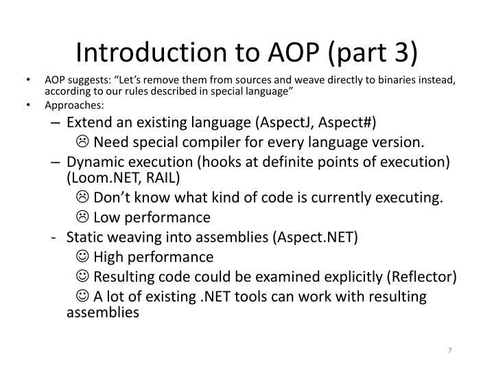Introduction to AOP (part 3)