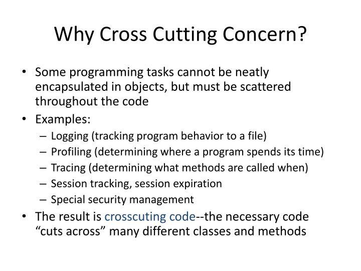 Why Cross Cutting Concern?