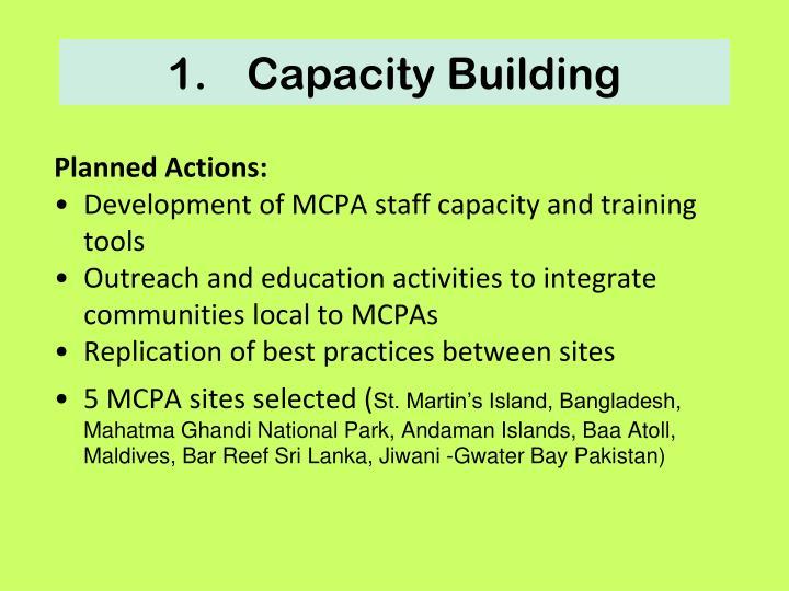1.Capacity Building