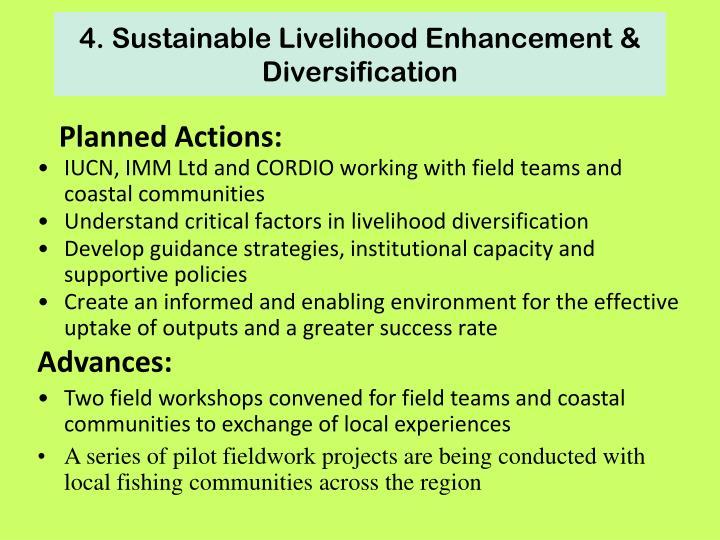 4. Sustainable Livelihood Enhancement & Diversification