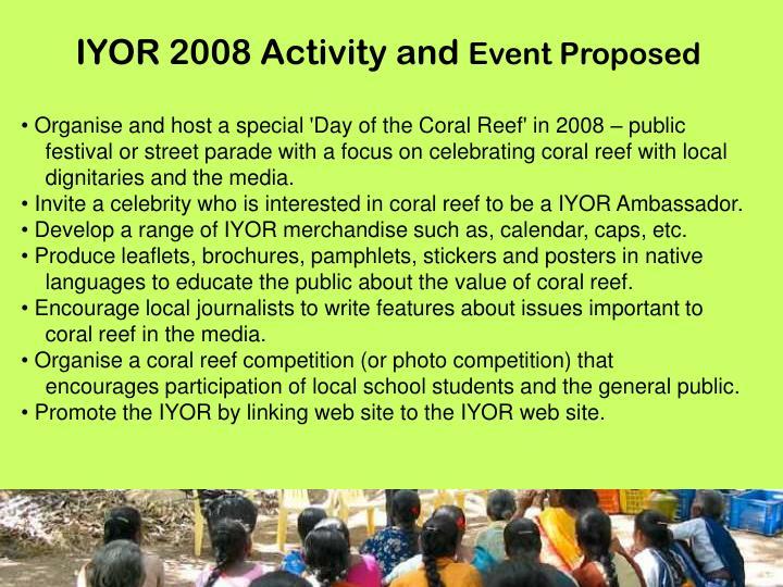 IYOR 2008 Activity and