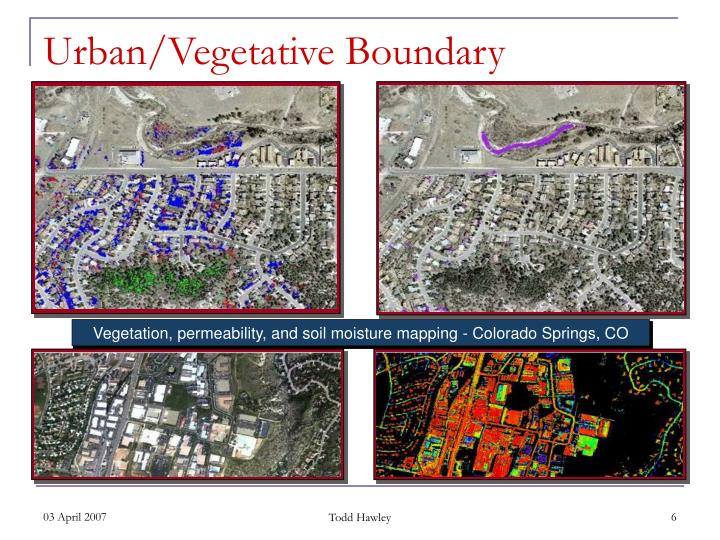 Vegetation, permeability, and soil moisture mapping - Colorado Springs, CO