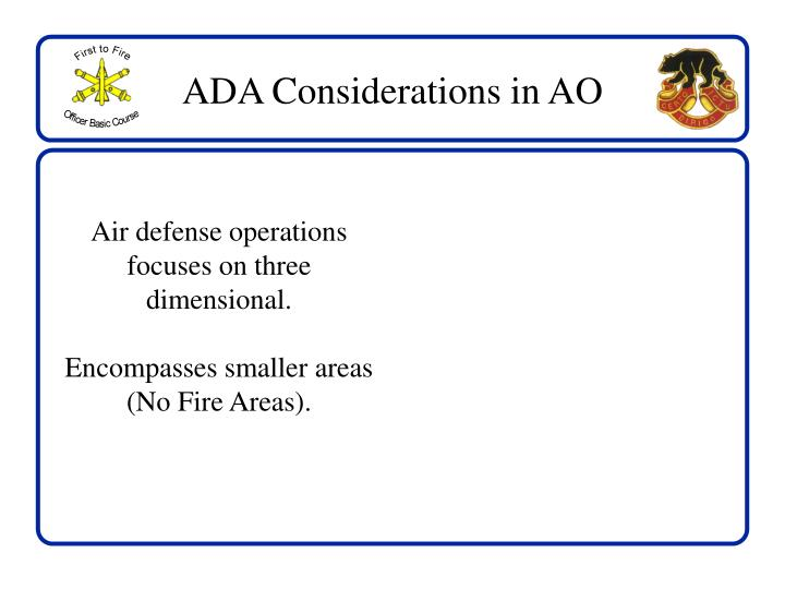 ADA Considerations in AO