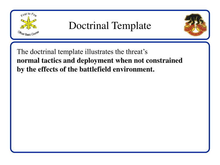 Doctrinal Template