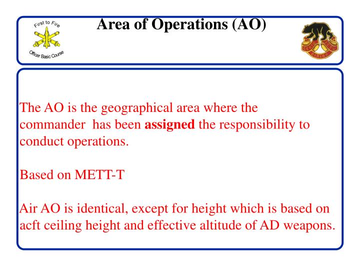 Area of Operations (AO)
